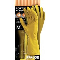 Rękawice ochronne gumowe flokowane REIS RFROSE Y r. S -XL