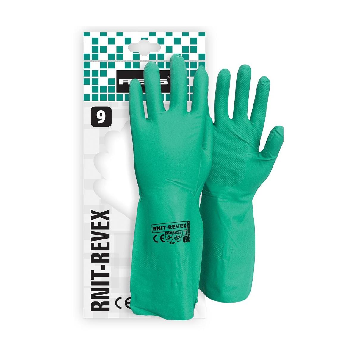 Rękawice ochronne z nitrylu RNIT-REVEX Z r. 7 - 10