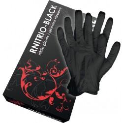 Rękawice nitrylowe czarne bezpudrowe RNITRIO-BLACK B r. S - XL 100 szt.