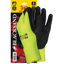Rękawice ochronne ocieplane powlekane DRAGON BLACKSAND YB r. 8 - 10