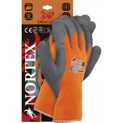 Rękawice ochronne ocieplane powlekane DRAGON NORTEX PS dostępne w rozmiarach od 7 do 11.