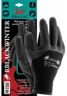 Rękawice ochronne ocieplane powlekane DRAGON RBLACKWINTER BB r. 8 - 11