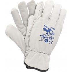 Rękawice ochronne ocieplane skórą kozią RLCS+ICE W r. 11