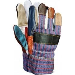 Rękawice ochronne ocieplane skóra bydlęca RLKOPAS MIX r. 11