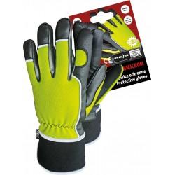 Rękawice ochronne ocieplane skóra Microthan RMC-WINMICROM YB r. 10