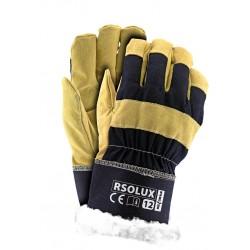 Rękawice ochronne ocieplane kożuszkiem wzmacniane RSOLUX GY r. 12
