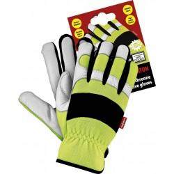 Rękawice ochronne fluorescencyjne RMC-MERATON YWB r. M-XXL