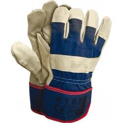 Rękawice robocze ochronne wzmacniane skórą RTOP GJK r. 10