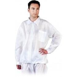 Bluza ochronna z polipropylenu długi rękaw biała r. M - 3XL