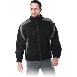 Bluza polarowa Leber & Hollman LH-FLEXER BS czarno-szara r. M - 3XL