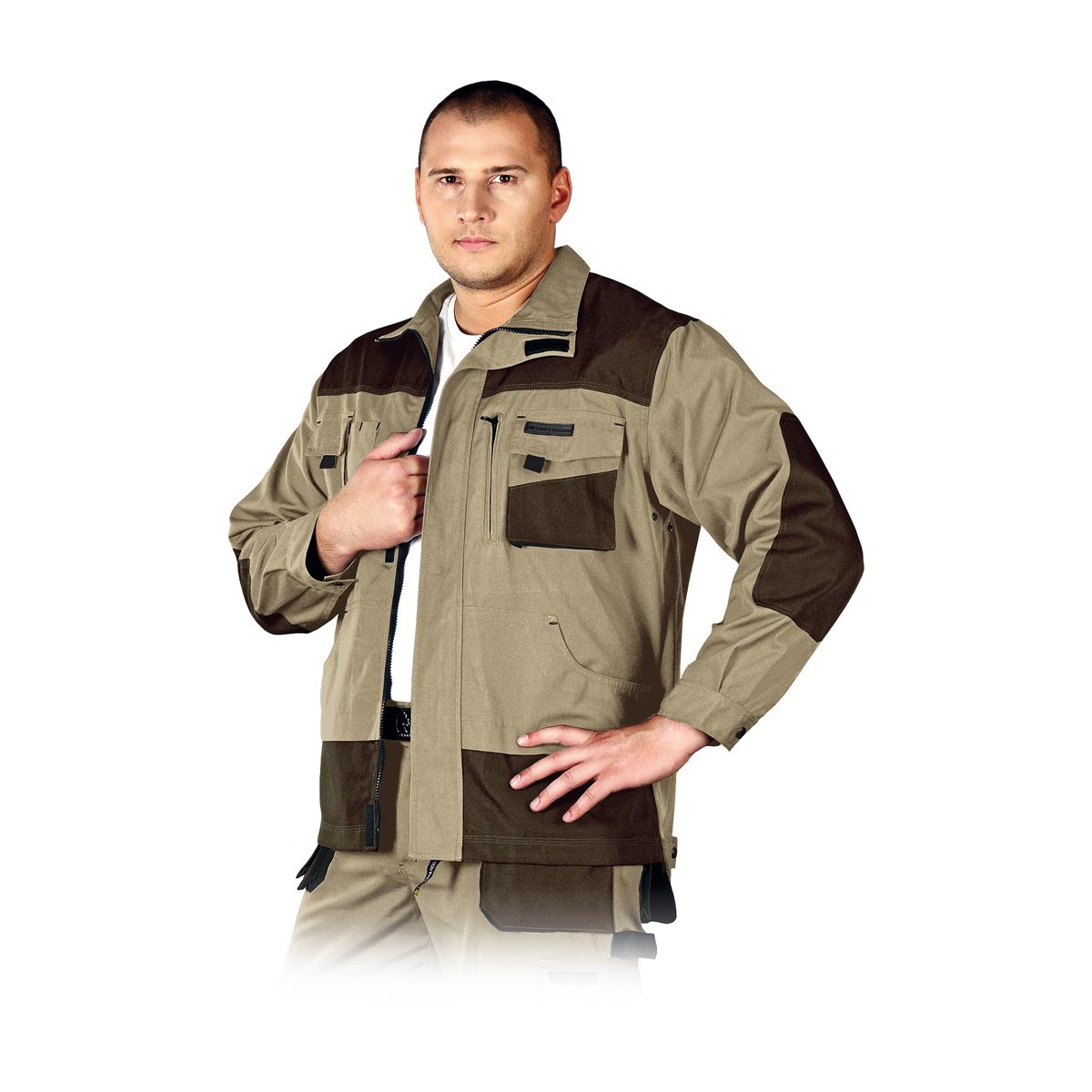 Bluza ochronna Leber & Hollman Formen LH-FMN-J beżowo-brązowa r. S - 3XL
