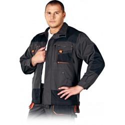 Bluza ochronna Leber & Hollman Formen LH-FMN-J czerwono-czarna r. S - 3XL
