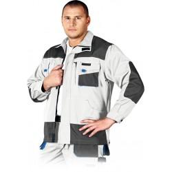 Bluza ochronna Formen LH-FMN-J WSN biało-szaro-niebieska r. S - 3XL
