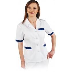 Damska bluza ochronna krótki rękaw biała Leber & Hollman LH-HCLS_J WN r. S - XXL