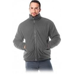 Ocieplana bluza z wysokiej jakości polaru REIS POL-POLAREX szara r. M - 3XL