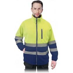 Bluza polarowa z pasami odblaskowymi REIS POLSTRIP YG r. S - 3XL