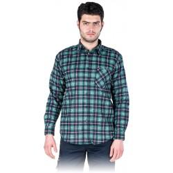 Koszula flanelowa kratka 100% bawełna REIS KF-C3 r. M - 3XL