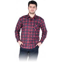 Koszula flanelowa kratka 100% bawełna REIS KF-GC granatowo-czerwona r. M - 3XL