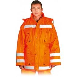 Kurtka zimowa z pasami odblaskowymi REIS K-ORANGE pomarańczowa r. M - 3XL