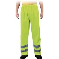 Spodnie przeciwdeszczowe z pasami odblaskowymi Leber & Hollman Fluer żółte r. M - 3XL