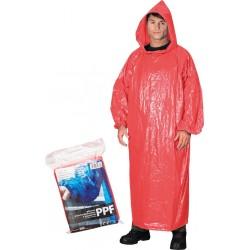 Płaszcz ochronny przeciwdeszczowy z kapturem REIS PPF czerwony UNI