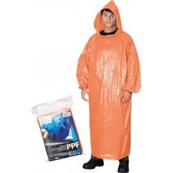 Płaszcz ochronny przeciwdeszczowy z kapturem REIS PPF pomarańczowy UNI
