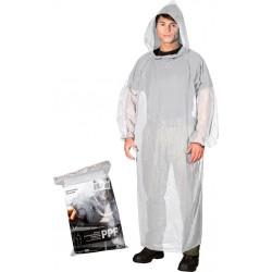 Płaszcz ochronny przeciwdeszczowy z kapturem REIS PPF transparentny UNI