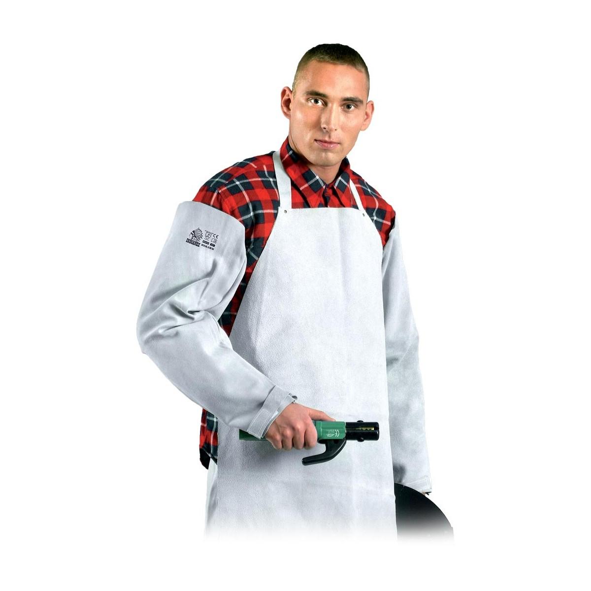 """Rękaw ochronny skórzany dla spawaczy Reis Indianex REKAWB JS UNI (27"""")"""