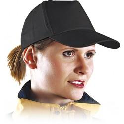 Czapka z daszkiem bejsbolówka ochronna czarna r. 57-61 CZB