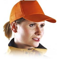 Czapka z daszkiem bejsbolówka ochronna pomarańczowa r. 57-61 CZP