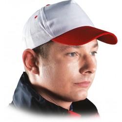 Czapka z daszkiem bejsbolówka ochronna biało-czerwona r. 57-61 CZWC