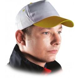 Czapka z daszkiem bejsbolówka ochronna biało-żółta r. 57-61 CZWY