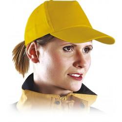 Czapka z daszkiem bejsbolówka ochronna żółta r. 57-61 CZY