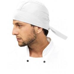 Czapka kucharska bandanka szefa REIS biała uniwersalna CZBANDANA W