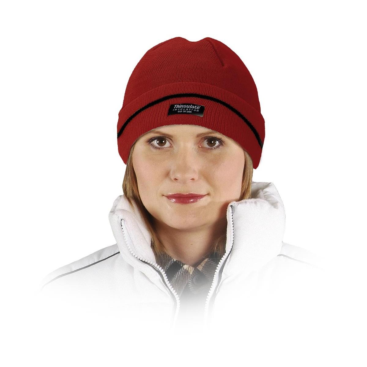 Czapka zimowa ocieplana wkładką Thinsulate REIS CZBAW czerwona