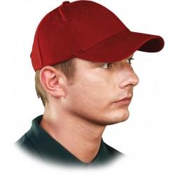 Czapka ochronna z daszkiem REIS CZLUX C czerwona 100% bawełna r. 57 - 61