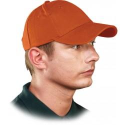 Czapka ochronna z daszkiem REIS CZLUX P pomarańczowa 100% bawełna r. 57 - 61