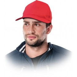 Czapka drelichowa ochronna REIS CZMZ C czerwona r. 57-61