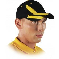 Czapka ochronna drelichowa czarno-żółta 100% bawełna CZTOP BY r. 57-61