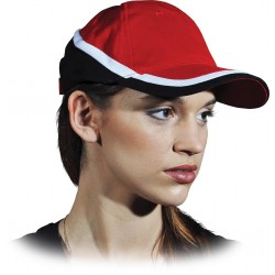 Czapka ochronna drelichowa czerwono-czarna 100% bawełna CZTOP CB r. 57-61