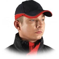 Czapka ochronna drelichowa granatowo-czerwona 100% bawełna CZTOP GC r. 57-61