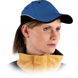 Czapka ochronna drelichowa niebiesko-czarna 100% bawełna CZTOP NG r. 57-61