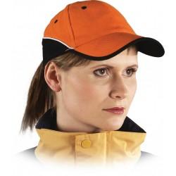 Czapka ochronna drelichowa pomarańczowa-czarna 100% bawełna CZTOP PB r. 57-61