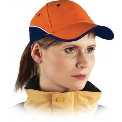 Czapka ochronna drelichowa pomarańczowa-granatowa 100% bawełna CZTOP PG r. 57-61