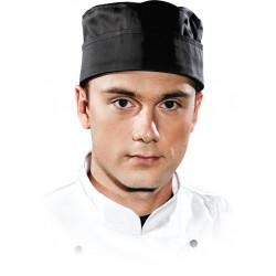 Czapka kucharska krótka LH-SKULLER Chef's Kitchen czarna r. L-2XL