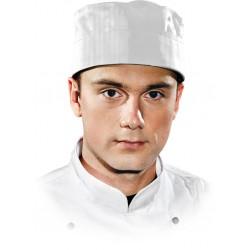 Czapka kucharska krótka LH-SKULLER Chef's Kitchen biała r. L-2XL