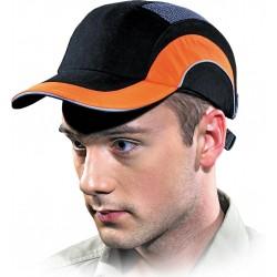 Przemysłowy hełm lekki HARD CAP czarno-pomarańczowy HARDCAPA1 BP uniwersalny