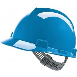 Hełm MSA V-GARD tworzywo HDPE regulacja Push-Key niebieski