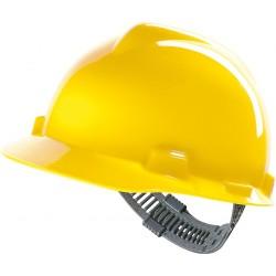 Hełm MSA V-GARD tworzywo HDPE regulacja Push-Key żółty