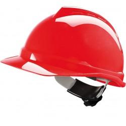 Hełm ochronny V-GARD 500 ABS Fas-Trac czerwony r. 52-64